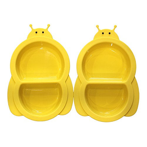Hominize Baby Divided Plates 2 Packs Slip Resistant