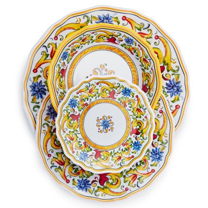 Durable melamine is perfect for outdoor use and is top-rack dishwasher safe for easy cleaning. Perfect for outdoor dining and entertaining our Floreale ...  sc 1 st  Niceu0027n Fun & Sur La Table Floreale 12-Piece Melamine Dinnerware Set with 4 Bonus ...