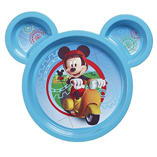 Disney Baby Mickey Mouse Sectioned Plate Colors May Vary