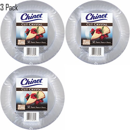Chinet Cut Crystal Clear Plastic 10 inch Plates 20 countt 4 Pack ...