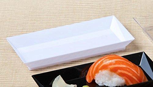 Disposable Hard Plastic Miniature Tasting Sushi Trays S&le Dish Party Plates White \u2013 Zappy 50ct 2.5\u2033 x 5\u2033 Elegant Petite Mini Rectangle Tray Appetizer ... & Disposable Hard Plastic Miniature Tasting Sushi Trays Sample Dish ...