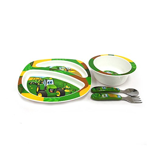 LP64811 John Deere/'s Johnny Tractor and Friends Feeding Set 4 Pieces