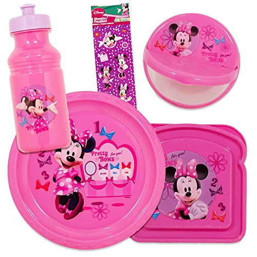 This disney Minnie Mouse dining set is food safe. Dishwasher safe top rack. Wash before first use. Disney minnie mouse dinnerware set for kids toddlers ...  sc 1 st  Nice\u0027n Fun & Plate Bowl Cup Stickers Minnie Mouse \u2013 Disney Minnie Mouse ...