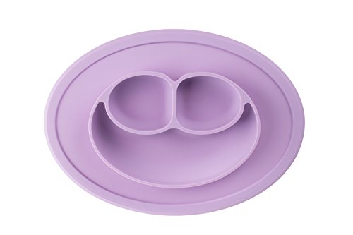 Bibiroo Silicone Baby Toddler Divided Bowl Plate