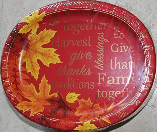 Thanksgiving Autumn Leaves Oval Paper
