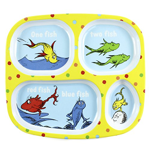 Bumkins Dr Seuss Melamine Dishware Yellow One Fish
