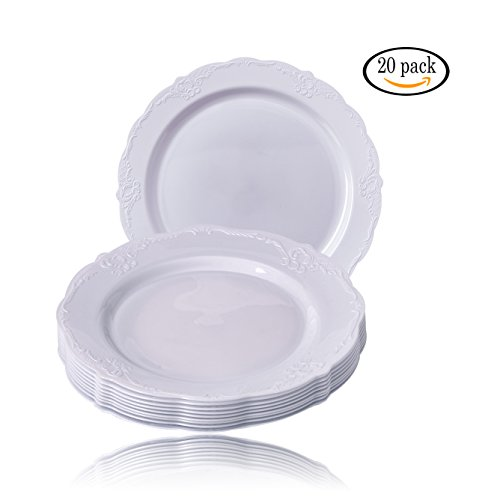 Silver Spoons Vintage Collection Party Disposable Dinnerware Set, 30 ...