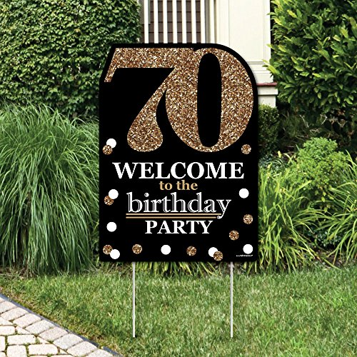 Hang At The Entrance Of Your Birthday Over Food Table Or Candy Buffet Gift Behind Dining Adult 70th