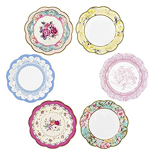 Diameter across the bottom of the assembled wrapper is can be adjusted to these sizes 2 1/4 inches not cups. Warning Not for use with hot drinks.  sc 1 st  Nice\u0027n Fun & Kate Aspen 28310PK Tea Time Whimsy Paper Plates Pink \u2013 Nice\u0027n Fun