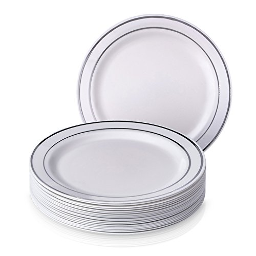 These Plates Are Sturdy, Soak Resistant, Durable And 100% Food Grade And  Safe To Use. High End Yet Affordable: With This Dazzling Set Of Disposable  ...