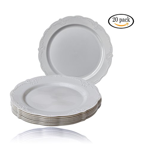 The plates are composed of heavyweight plastic materials so you could reuse them at future parties and events. Finest quality these beautiful dinnerware ...  sc 1 st  Niceu0027n Fun & Party Disposable 20 pc Dinnerware Set   20 Dinner Plates ...