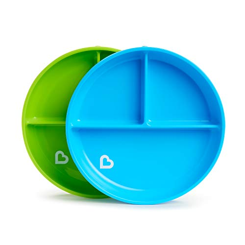 Munchkin Stay Put Divided Suction Plates Blue Green