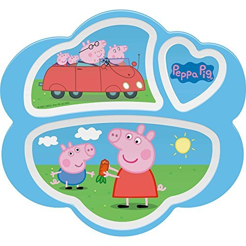 Peppa Pig 3 Section Plate Break Resistant And Bpa Free
