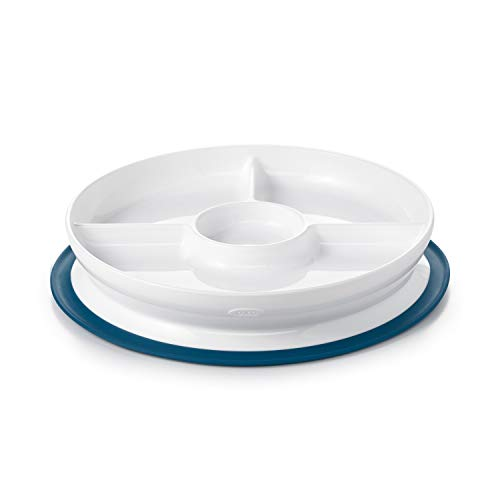 Oxo Tot Stick Amp Stay Divided Plate Navy Nice N Fun