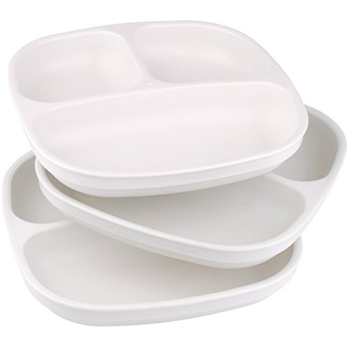White Re Play Made In Usa 3pk Divided Plates With Deep